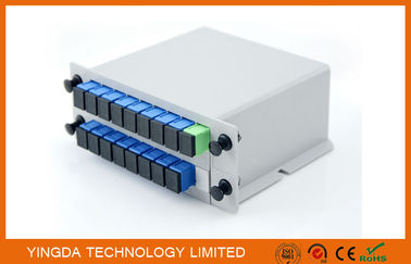 China GPON Network PLC Optical Fiber LGX Splitter Aluminum 2 Slot Cassette Chassis distributor