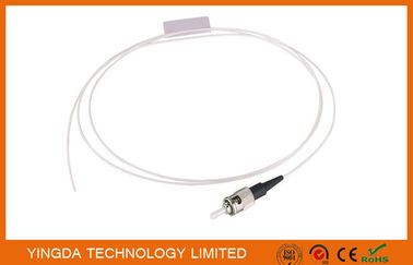 China ST UPC SM SX Pigtail , Optic Fiber Pigtails ST Singlemode Simplex White Cable distributor